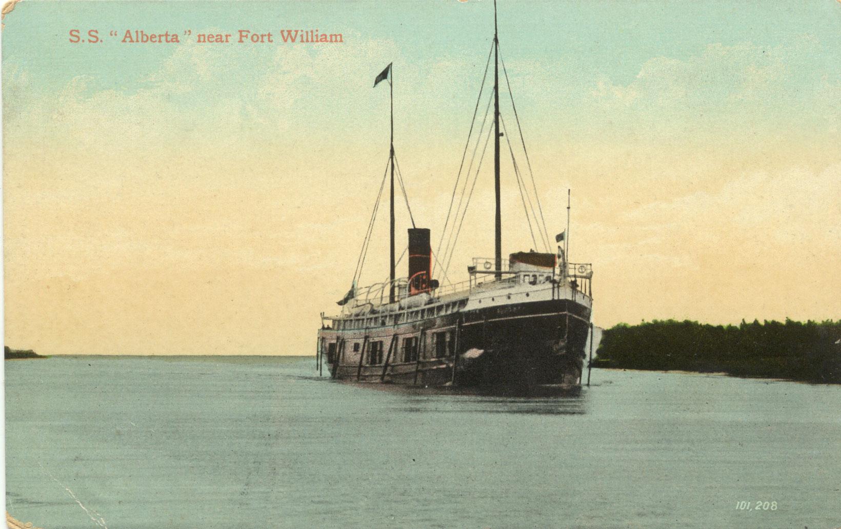 "S.S. ""Alberta"" near Fort William"