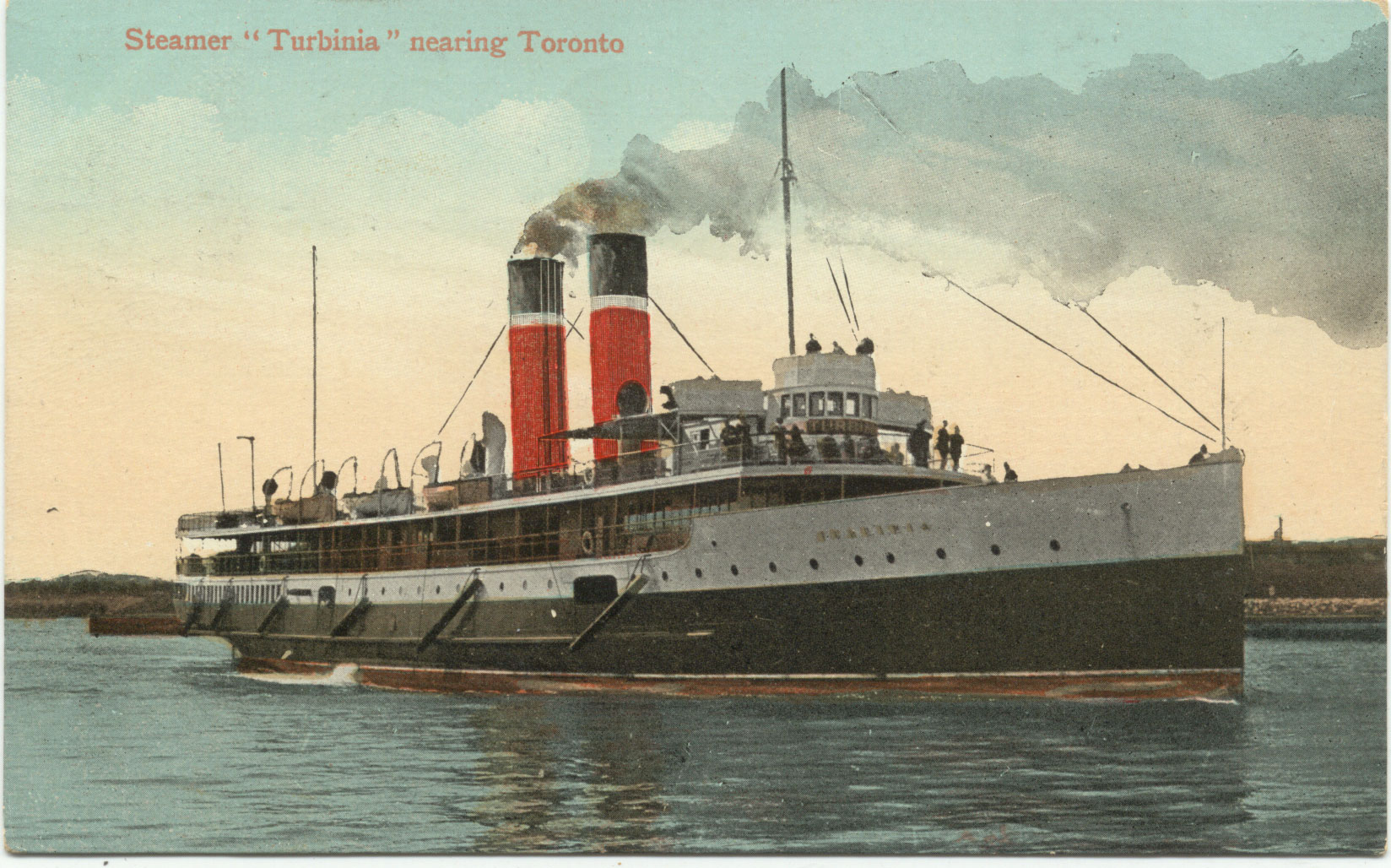 "Steamer ""Turbinia"" nearing Toronto"