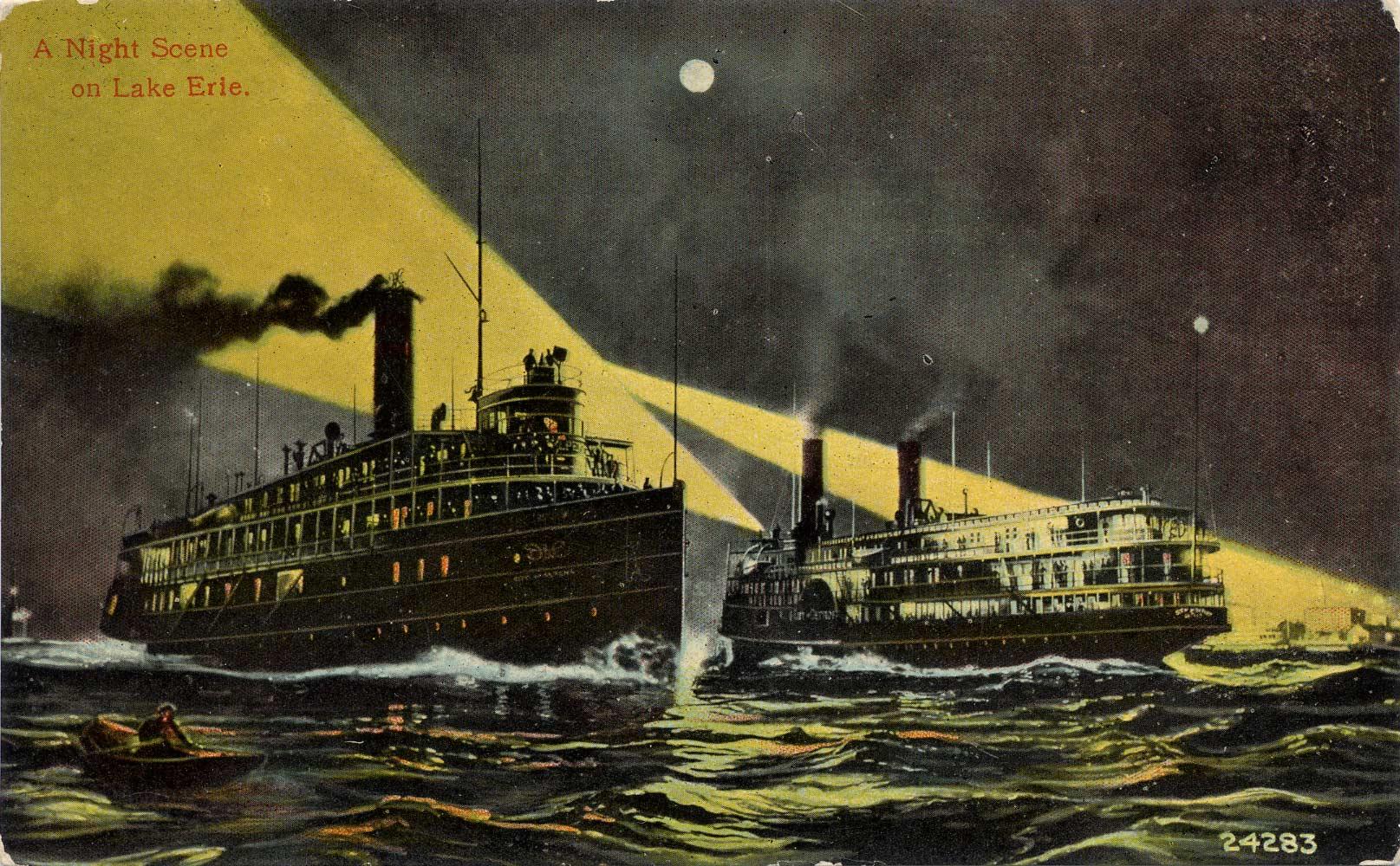 A Night Scene on Lake Erie