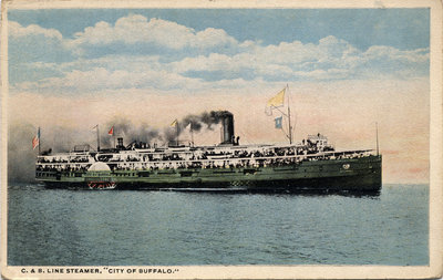 "C. & B. Line Steamer, ""City of Buffalo."""