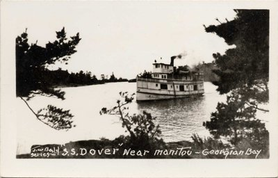 """S. S. DOVER"" near Manitou - Georgian Bay"