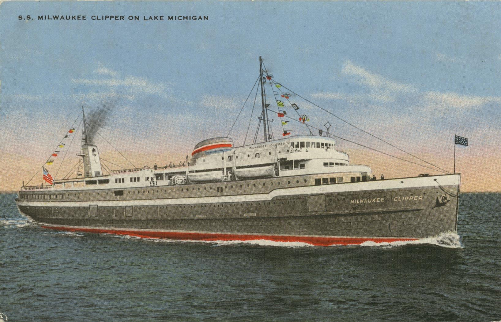 S. S. Milwaukee Clipper on Lake Michigan