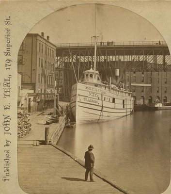 Steamer ST. ALBANS at Cleveland