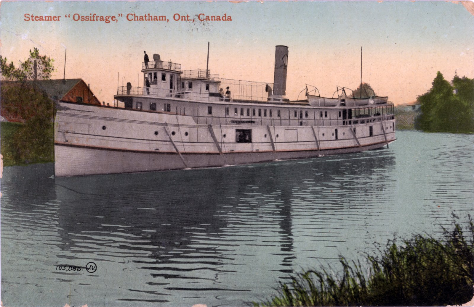"""Steamer """"Ossifrage,"""" Chatham, Ont., Canada"""