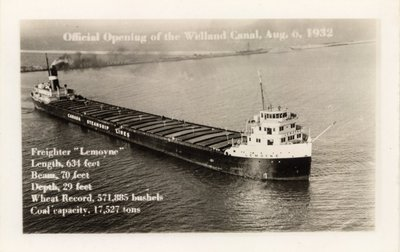 Official Opening of the Welland Canal, Aug. 6, 1932