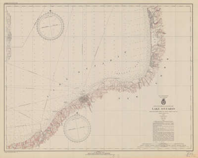 Lake Ontario, South of Stony Point to Little Sodus Bay, N.Y., Coast Chart No. 22. 1940