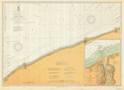 Lake Erie Coast Chart No. 4. Conneaut to Chagrin River, 1913