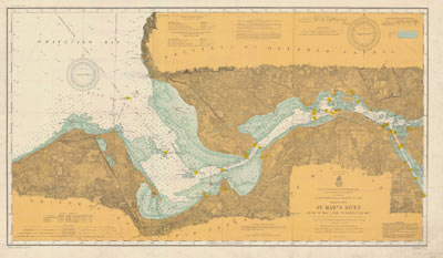 St. Marys River Head of Hay Lake to Whitefish Bay. 1906