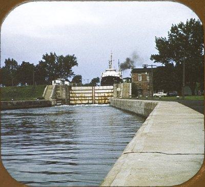 MICHIGAN descending in Sault lock