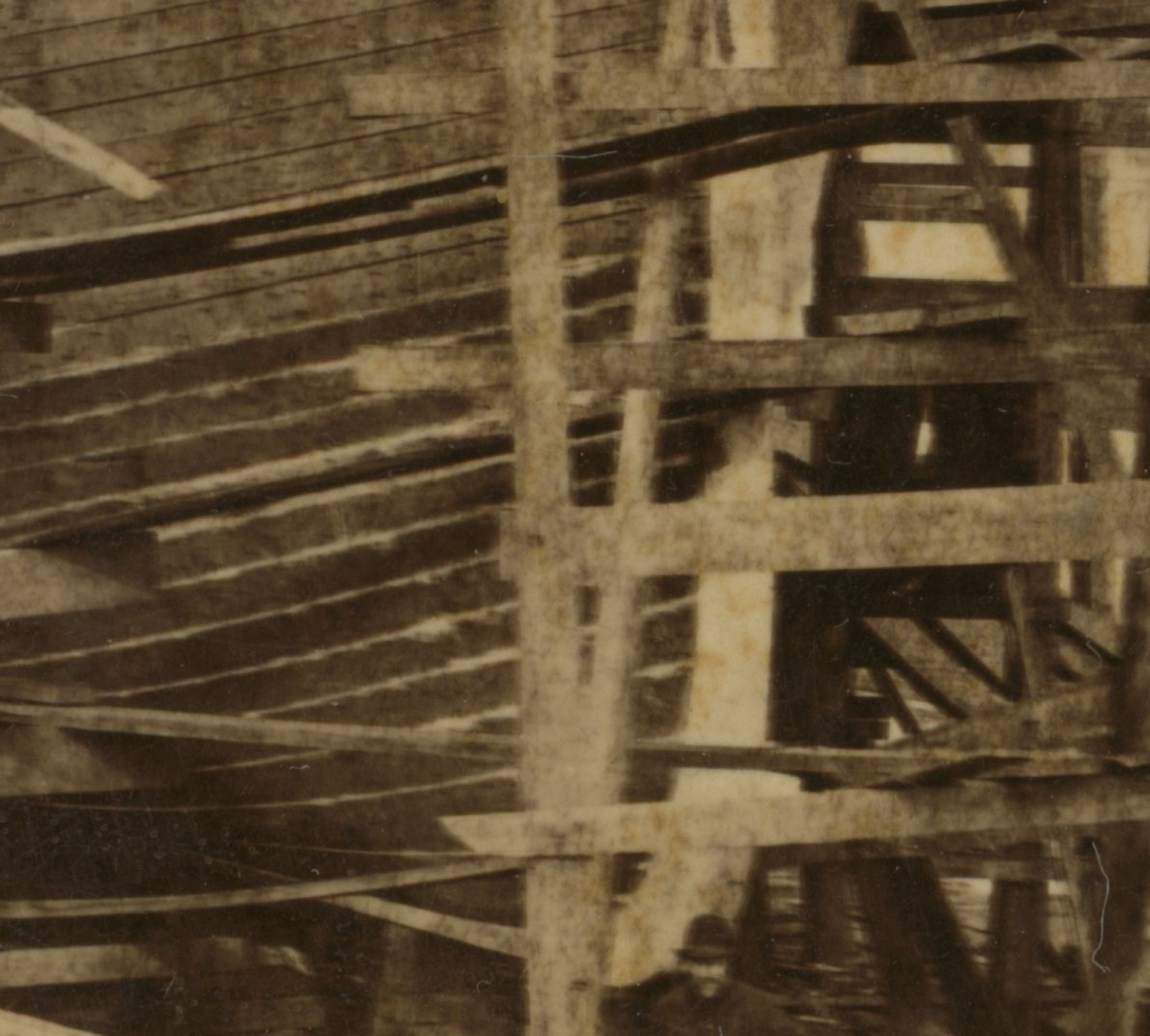 Steamboat construction at Cleveland