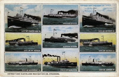 Detroit and Cleveland Navigation Co. Steamers
