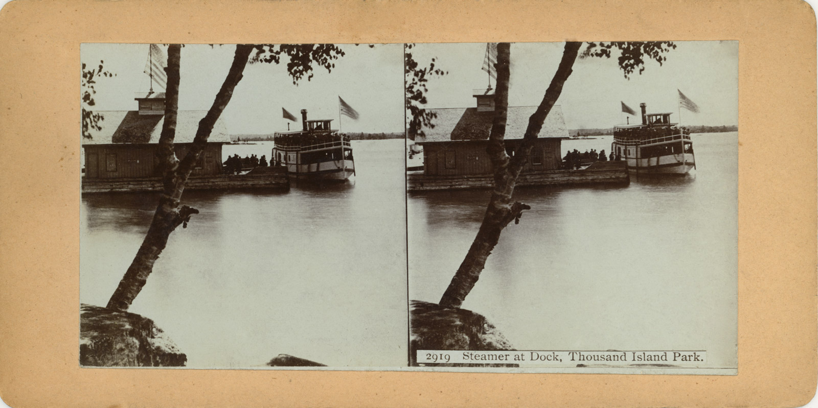 Steamer at Dock, Thousand Island Park.