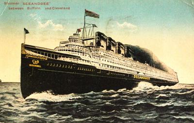Steamer SEEANDBEE between Buffalo and Cleveland