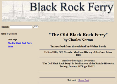 """""""The Old Black Rock Ferry"""""""