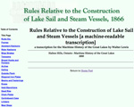 Rules Relative to the Construction of Lake Sail and Steam Vessels
