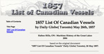 1857 List Of Canadian Vessels