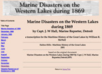 Marine Disasters on the Western Lakes during 1869