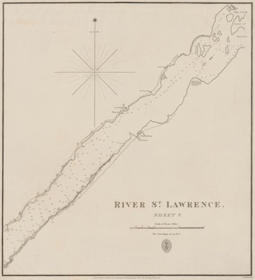 River St. Lawrence: sheet V [Maitland to Galop Rapids]