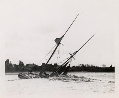 Shipwrecked schooner
