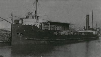 Steamer PORT COLBORNE loading cement at Port Colborne