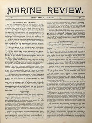 Marine Review (Cleveland, OH), 10 Jan 1895