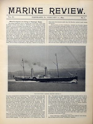 Marine Review (Cleveland, OH), 21 Feb 1895
