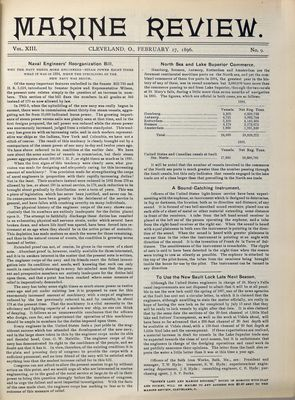 Marine Review (Cleveland, OH), 27 Feb 1896