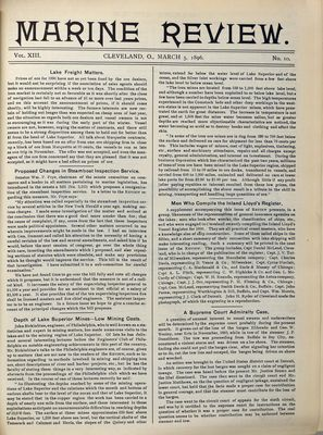 Marine Review (Cleveland, OH), 5 Mar 1896