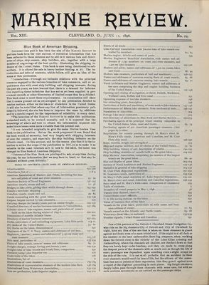 Marine Review (Cleveland, OH), 11 Jun 1896