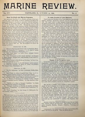 Marine Review (Cleveland, OH), 29 Oct 1896