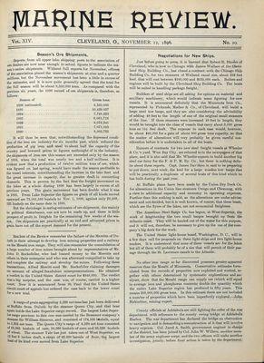 Marine Review (Cleveland, OH), 12 Nov 1896