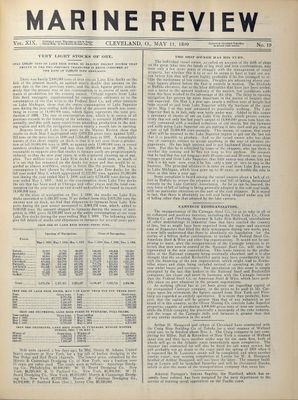 Marine Review (Cleveland, OH), 11 May 1899