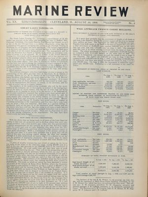 Marine Review (Cleveland, OH), 10 Aug 1899