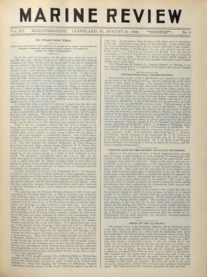Marine Review (Cleveland, OH), 31 Aug 1899