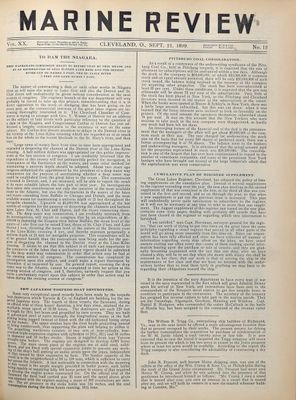 Marine Review (Cleveland, OH), 21 Sep 1899