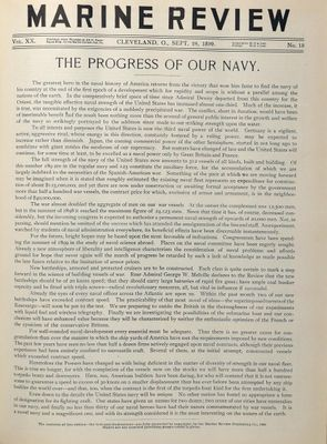 Marine Review (Cleveland, OH), 28 Sep 1899