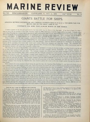 Marine Review (Cleveland, OH), 12 Oct 1899