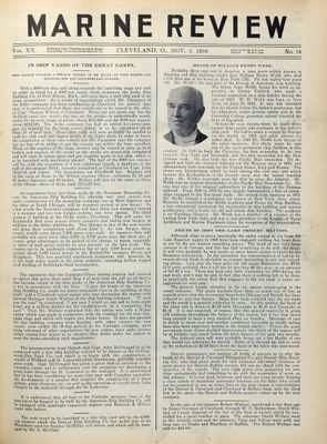 Marine Review (Cleveland, OH), 2 Nov 1899