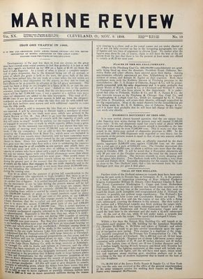 Marine Review (Cleveland, OH), 9 Nov 1899