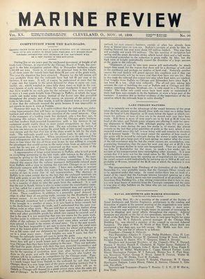 Marine Review (Cleveland, OH), 16 Nov 1899