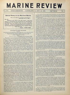 Marine Review (Cleveland, OH), 23 Nov 1899