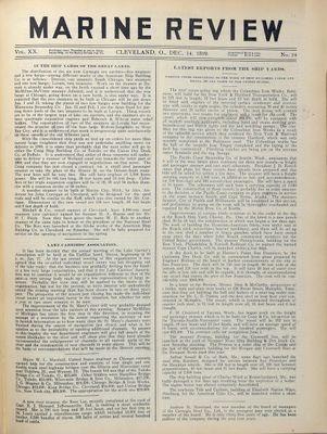 Marine Review (Cleveland, OH), 14 Dec 1899