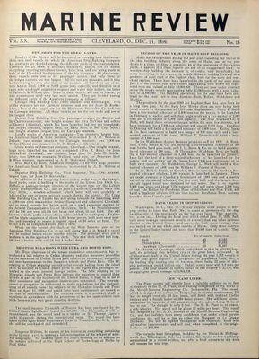 Marine Review (Cleveland, OH), 21 Dec 1899