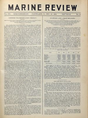 Marine Review (Cleveland, OH), 28 Dec 1899