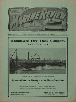 Marine Review (Cleveland, OH), 23 Nov 1905