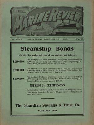 Marine Review (Cleveland, OH), 21 Dec 1905
