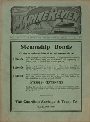Marine Review (Cleveland, OH), 28 Dec 1905