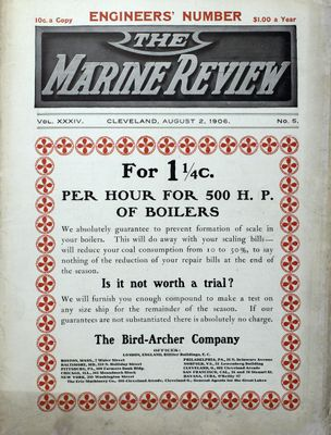 Marine Review (Cleveland, OH), 2 Aug 1906