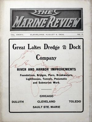 Marine Review (Cleveland, OH), 9 Aug 1906