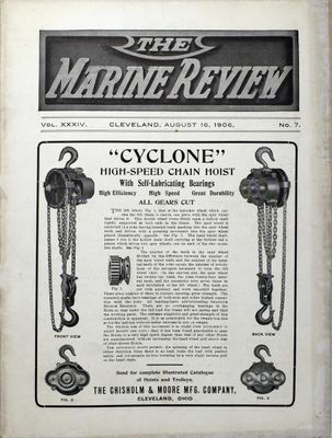 Marine Review (Cleveland, OH), 16 Aug 1906